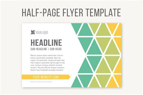 half page flyer template blue dots babysitting flyer