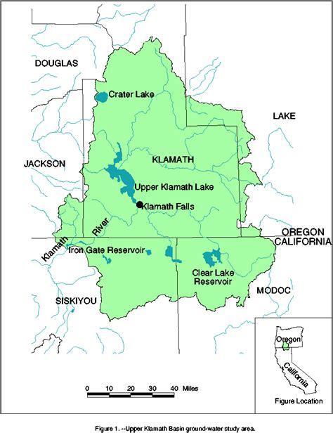 map of klamath oregon usgs oregon water science center studies klamath basin