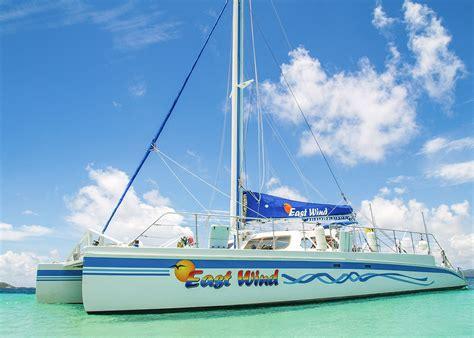 catamaran sailing fajardo puerto rico icacos and palominito snorkeling catamaran tour east