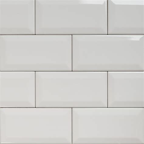 Subway bevelled gloss white tile 150 215 75 eco tile factory
