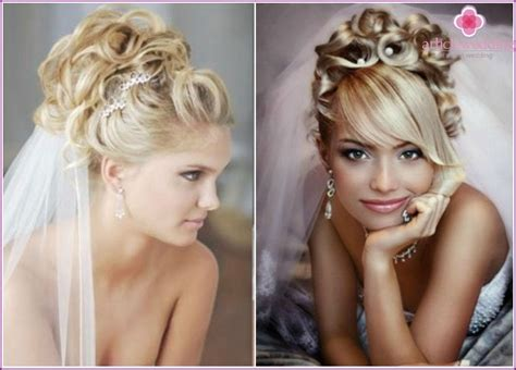 Wedding Hairstyles Ringlets by Wedding Hairstyles 2015 With Veil And Flowers With Curls