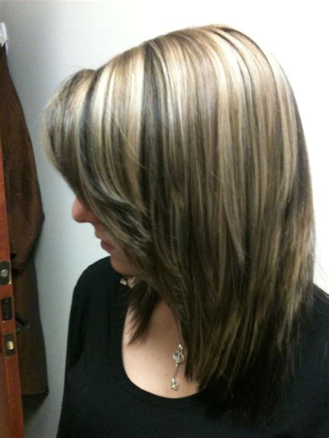 gray dark dark low lights foils highlights blonde with dark lowlights light brown accents