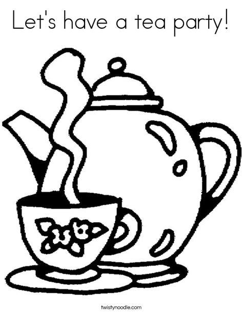 let s have a tea party coloring page twisty noodle