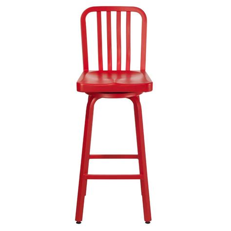 home decorators collection sandra 30 in brushed aluminum home decorators collection 15 5 in w sandra red swivel