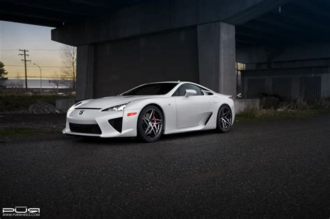 lexus lfa custom lexus lfa rides on custom pur wheels carscoops
