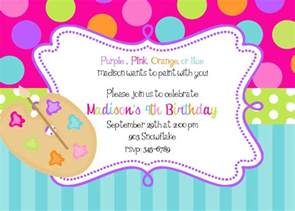 painting birthday invitations by noteablechic
