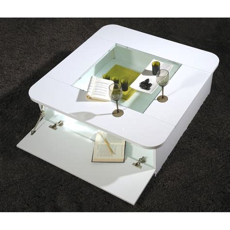floyd contemporary high gloss coffee table with optional