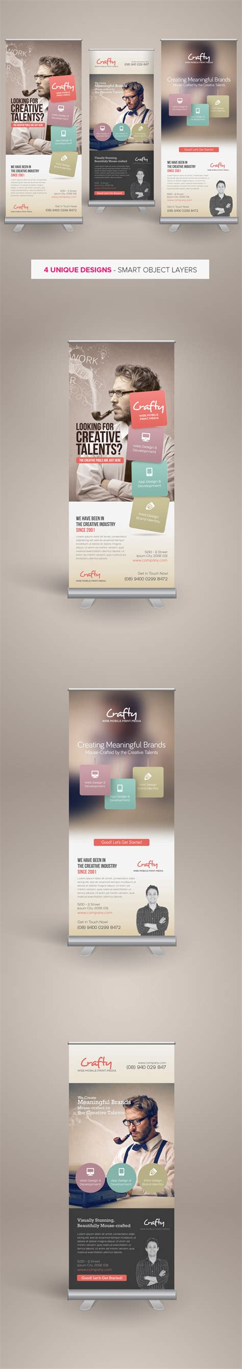 banner design on behance creative design agency roll up banners on behance