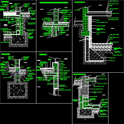 autocad section blocks constructive sections concrete blocks dwg section for