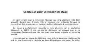 Cv Sciences Stock by Conclusion Rapport De Stage Exemple Rapport De Stage