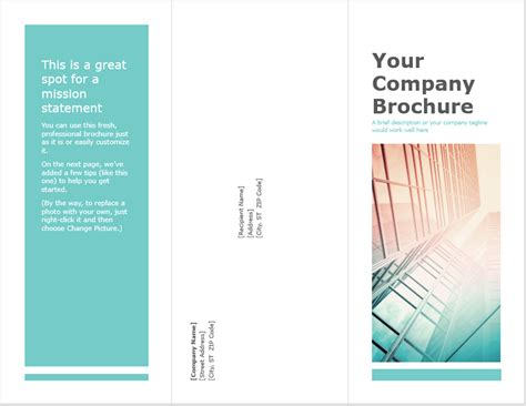 12 free tri fold brochure templates word templates