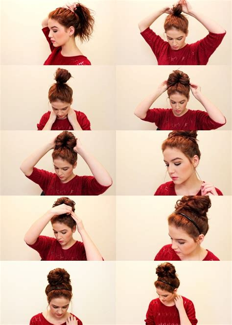 how to do quick messy hairstyles love shelbey quick and easy messy bun