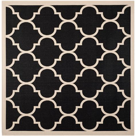 4 foot square rug safavieh courtyard black beige 4 ft x 4 ft indoor outdoor square area rug cy6914 266 4sq the