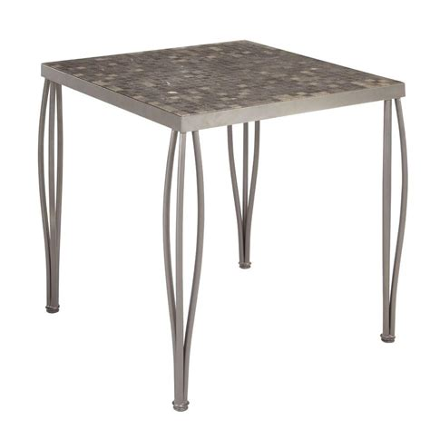 square marble top bistro home styles glen rock 36 in marble square patio high