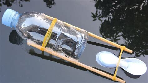 diy boat how to make rubber band powered boat diy youtube