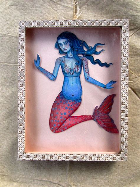 jointed doll etsy jointed mermaid paper doll kit mermaid dolls and etsy