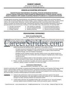 Sle Accountant Cover Letter by Professional Accountant Resume Exles Research Papers