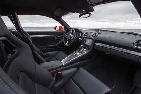 porsche cayman interior 2017 2017 porsche 718 cayman first drive automobile magazine