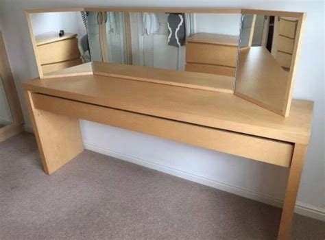 ikea dressing table with drawers ikea malm dressing table birch wood in downend bristol