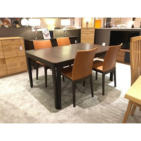 extending dining table and chairs skovby sm26 smoked oak extending table 4 chairs