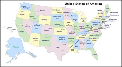 map of usa with states marked us map labeled states and capitals maps of usa