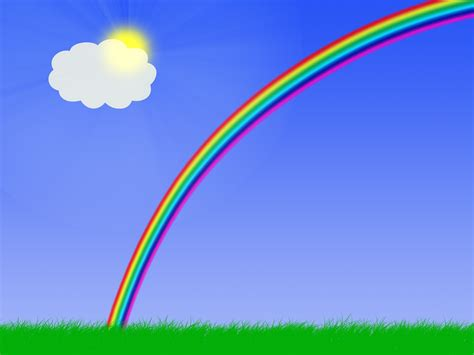 wallpaper rainbow cartoon rainbow desktop wallpaper
