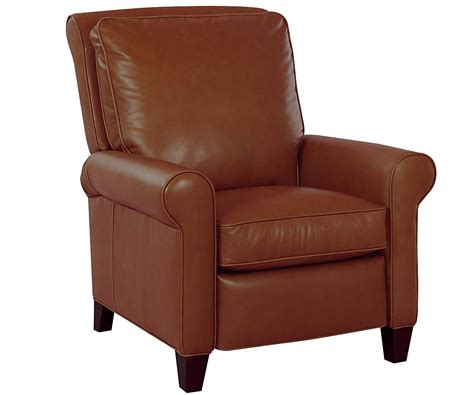 Perry Pillow Back Cigar Chair Recliner Leather Recliners