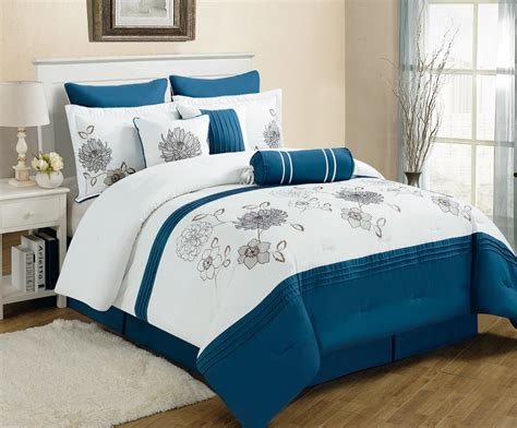 blue comforter set blue and white bedding sets bed mattress sale