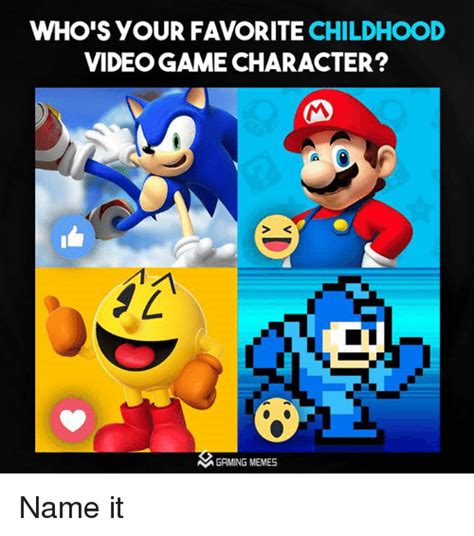 whos  favorite childhood videogame character