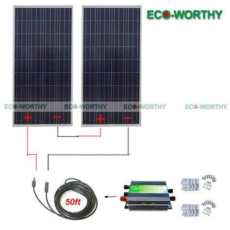 300w 24v Solar Panel by 300w 24v Solar System 2 160w Solar Panel For Battery