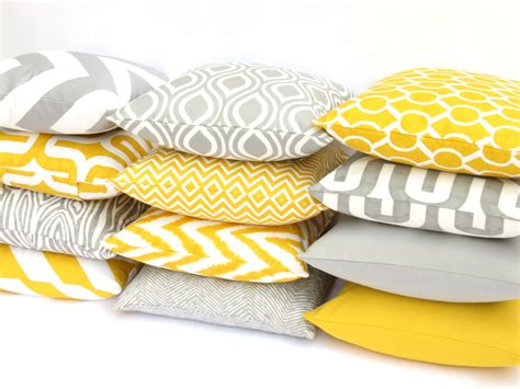yellow decorative pillows couch spring fling blindsgalore blog