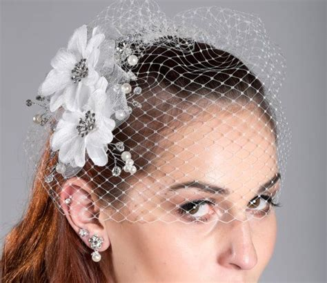 davids bridal hairstyles 46 best birdcage veil and crystal fasvinators images on