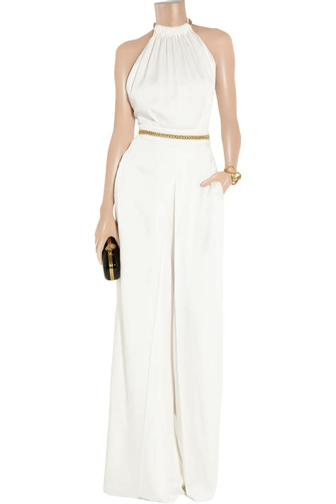 Jumpsuit Babol Jumpsuit Keren laurent chain embellished crepe jumpsuit in lyst