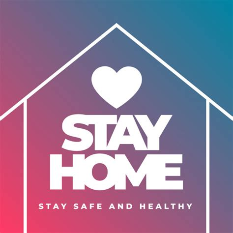 vector stay home stay safe  healthy concept