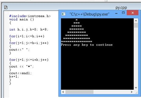 programming qt in c c pyramid shape by me