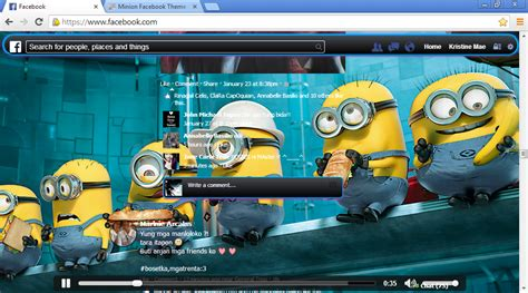 Facebook Themes Minions | minion facebook theme