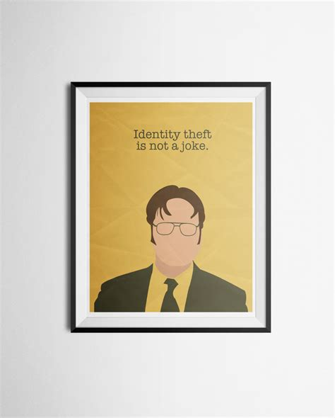 printable office poster dwight schrute quote poster the office print
