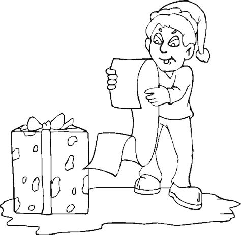 funny elf coloring pages free christmas coloring pages