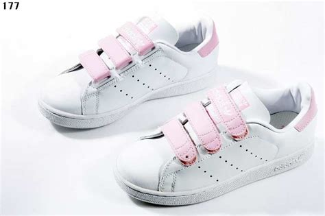 welcome adidas white pink stan smith shoes velcro wrinkle free 2018 sale 163 89 20