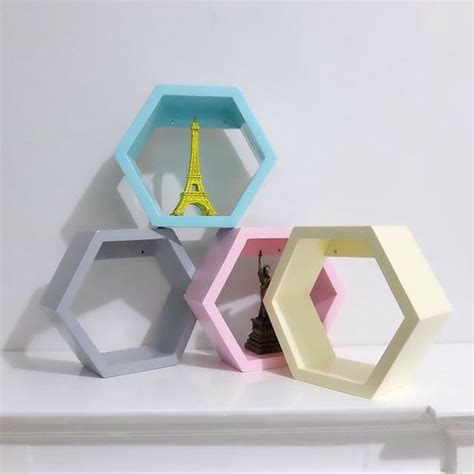 Jual Rak Hexagonal rak dinding hexagonal small shopee indonesia