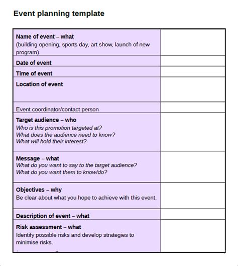 event planning document template 10 event planning checklist templates free sle