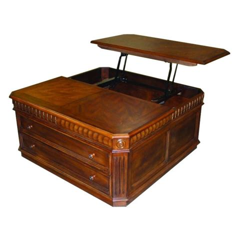 Coffee Table With Lift Top Dining House Tab 37 04 Occasional Lift Top Cocktail Coffee Table Pecan Atg Stores