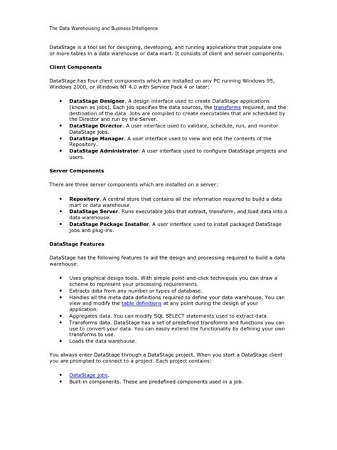 Datastage Best Practices Document