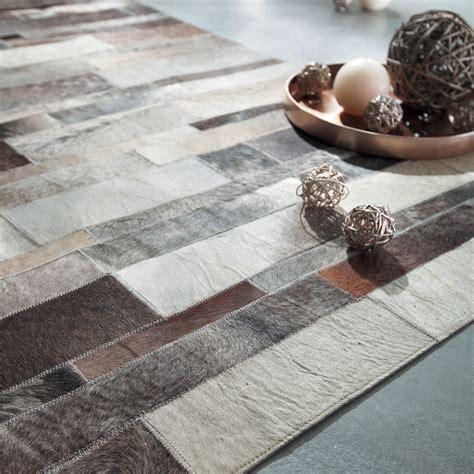 lederen tapijt lederen tapijt 140x200 arty maisons du monde