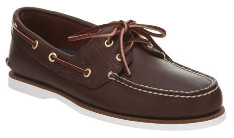 leather shoes mens timberland new boat shoe brown leather shoes ebay