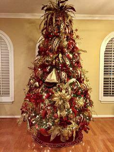 burgundy  gold christmas tree ideas www