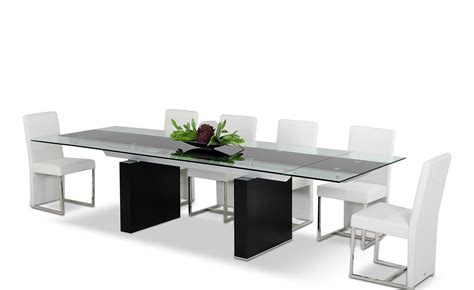 extendable glass top dining table extendable black glass top wooden oak legs dining