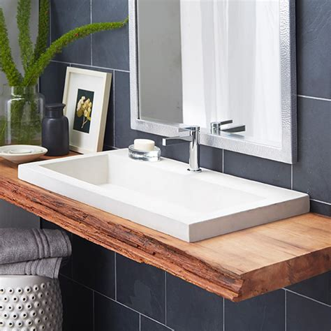 bathroom trough sink trough 3619 nativestone 174 rectangular bathroom sink