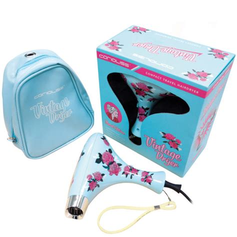Floral Mini Hair Dryer corioliss vintage blue floral hair dryer health