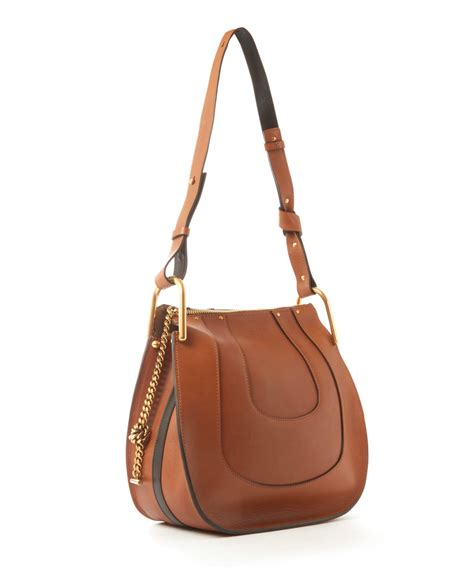 hobo leather bags chlo 233 small hayley leather hobo bag in brown lyst